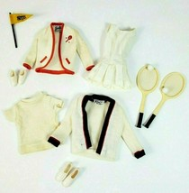 Vintage Ken & Barbie Outfit Time For Tennis Set #790 Racket Sweater Shir... - $72.55