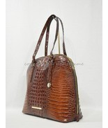 NWT RARE Brahmin Cora Leather Tote / Shoulder Bag / Work Bag in Pecan Me... - $389.00