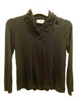 Minuetto Cardigan Sweater Teen Girls Size 14 Black Color Long Sleeves On... - $9.50