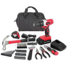 Hyper Tough AQ90044G 20-Volt Max Lithium Ion Cordless Drill with 70-Piece. - $59.16