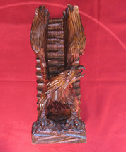 Walnut  Carving, American Eagle. Carved from a Single Piece of Wood. 715 - $14.85