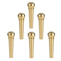 Meideal Guitar Bridge Pins 6pcs Brass Copper for Acoustic Guitar With Gu... - $13.27