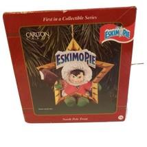 Nib Vtg Heirloom Carlton Cards Christmas Ornament North Pole Treat Eskimo Pie  - $18.90