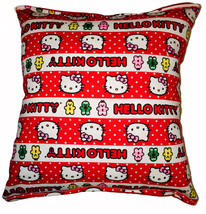 Hello Kitty Pillow Stripped Valentines Day Pillow Kid Safe 100% Hypoalle... - $9.99