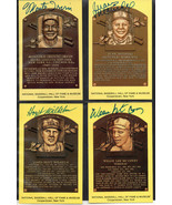 FOUR HALL OF FAME SIGNED PLAQUES McCOVEY,MARICHAL,IRVIN,WILHELM. SF & NY... - $49.01