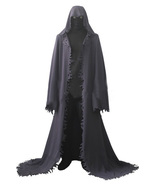Death Grim Reaper Game Cosplay Costume Halloween Party Black Robe - $116.18