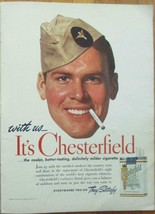 Vintage 1941 Magazine Print Ad CHESTERFIELD CIGARETTES Army Air Corps - $7.85