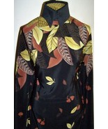 Gorgeous Leaves Border Print Non Stretch Polyester Fabric 2 Yards 18 Inches - $50.00