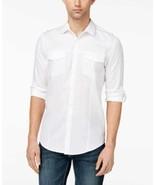 INC International Concepts I.N.C. Men's Dobby Utility Shirt (White, XXL) - $29.58