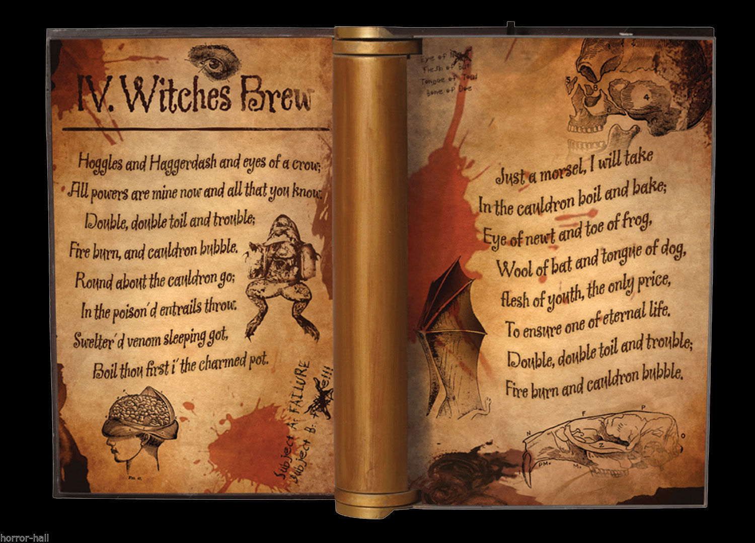 Witch Grimoire DARK MAGIC BOOK ANIMATED PROP Haunted House Halloween Decoration