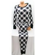 Victoria's Secret Fireside Thermal Pajama Set, Black Buffalo Plaid/Purpl... - $44.10+