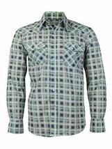 LW Men's Western Cowboy Pearl Snap Long Sleeve Rodeo Dress Shirt