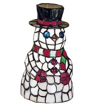 "Frosty the Snowman Christmas Tiffany Style Stained Glass 8.5"" Meyda Acce... - $220.00"