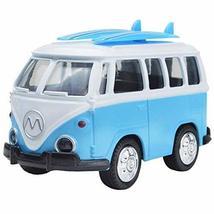 PANDA SUPERSTORE Toy Car Alloy Double Retro Bus Back Car Model Sound Lights