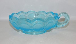 Fostoria Coin Glass Blue Happy - $19.80