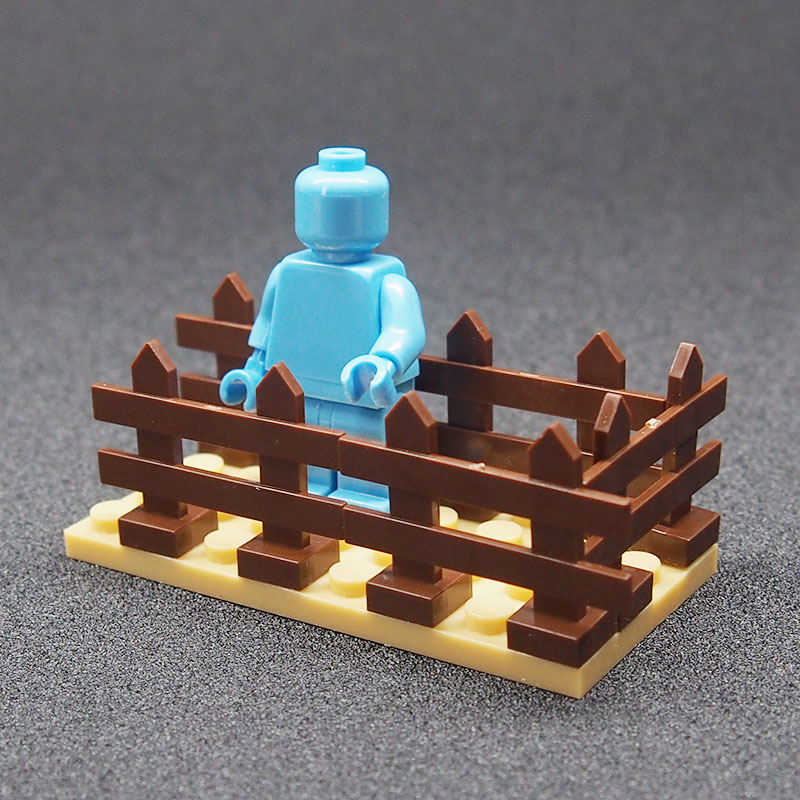 8pcs Wood Garden Fence Lego Minifigure Toys, used for sale  USA