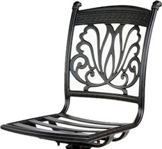 Outdoor armless bar stool cast aluminum patio furniture sunbrella seat cushions image 3