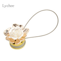 Lychee 1pc White Rose Gold Leaf Tieback Curtain Accessories - $13.95