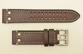 Genuine Luminox watch band 1820 1840  Field  Brown leather 23mm strap Ri... - $69.95