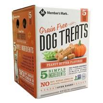 Member's Mark Grain Free Dog Treats, Peanut Butter Flavored 5 Lb - $19.98