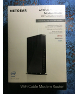 NETGEAR AC1750 WiFi Cable Modem Router - 802.11ac Dual Band Gigabit NEW! - $74.98