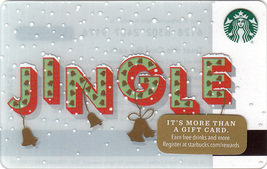 Starbucks 2016 Jingle Collectible Gift Card New No Value - $4.99