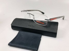 New Prada Sport Vps 54C AAG-1O1 Grey Rimless Eyeglasses 51mm With Case - $117.56