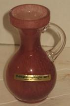 Vintage Kaspar Single Art Hand Blown Crystal/Glass Pink/Mauve Bud Vase - $18.81