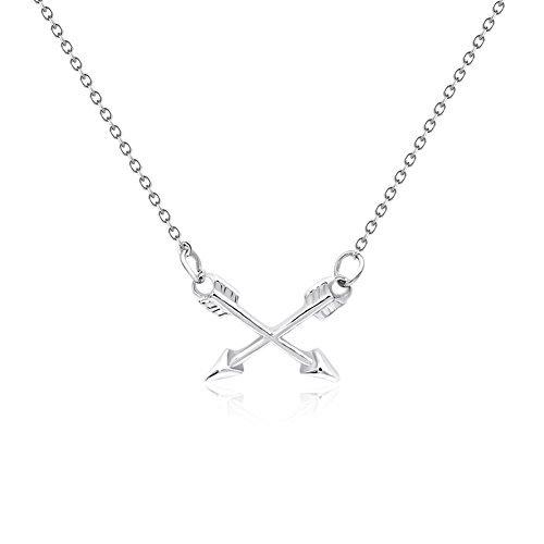 CYBERNY Best Friends Cross Arrow Pendant Necklace Friendship (best friend)
