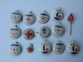 Fold Over Pinback Lot of American Junior Red Cross Blood Donor Lapel Pin - $27.87
