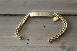 Vintage Joe and Jen Love ID Bracelet by Speidel - $17.82