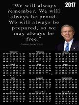 2017 George W Bush Calendar Poster GWB Quote Poster Calendar President Calendar - $29.69