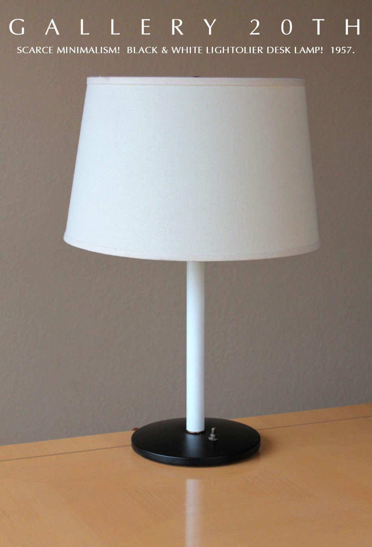 Mid Century Modern Lightolier Desk Lamp Eames Atomic 50 S 60 Light Black Vtg