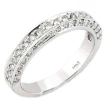 3/4 Carat Womens Antique Round Cut Diamond Ring Wedding Band 14K White Gold - £1,290.96 GBP