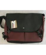 Aria Handmade Optimus Messenger Bag Large Red Black NWT - $118.80