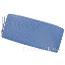 LOUIS VUITTON Portefeuille Clemence Epi Blue Wallet M67408  Authentic 55... - $644.55