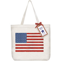 Eco Friendly Canvas Tote Bag By Mary Lake Thompson-American Flag! - $21.50