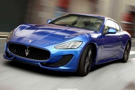 Maserati Grand Sport (On Road Blue) | Poster | 24 X 36 Inch | - $18.99