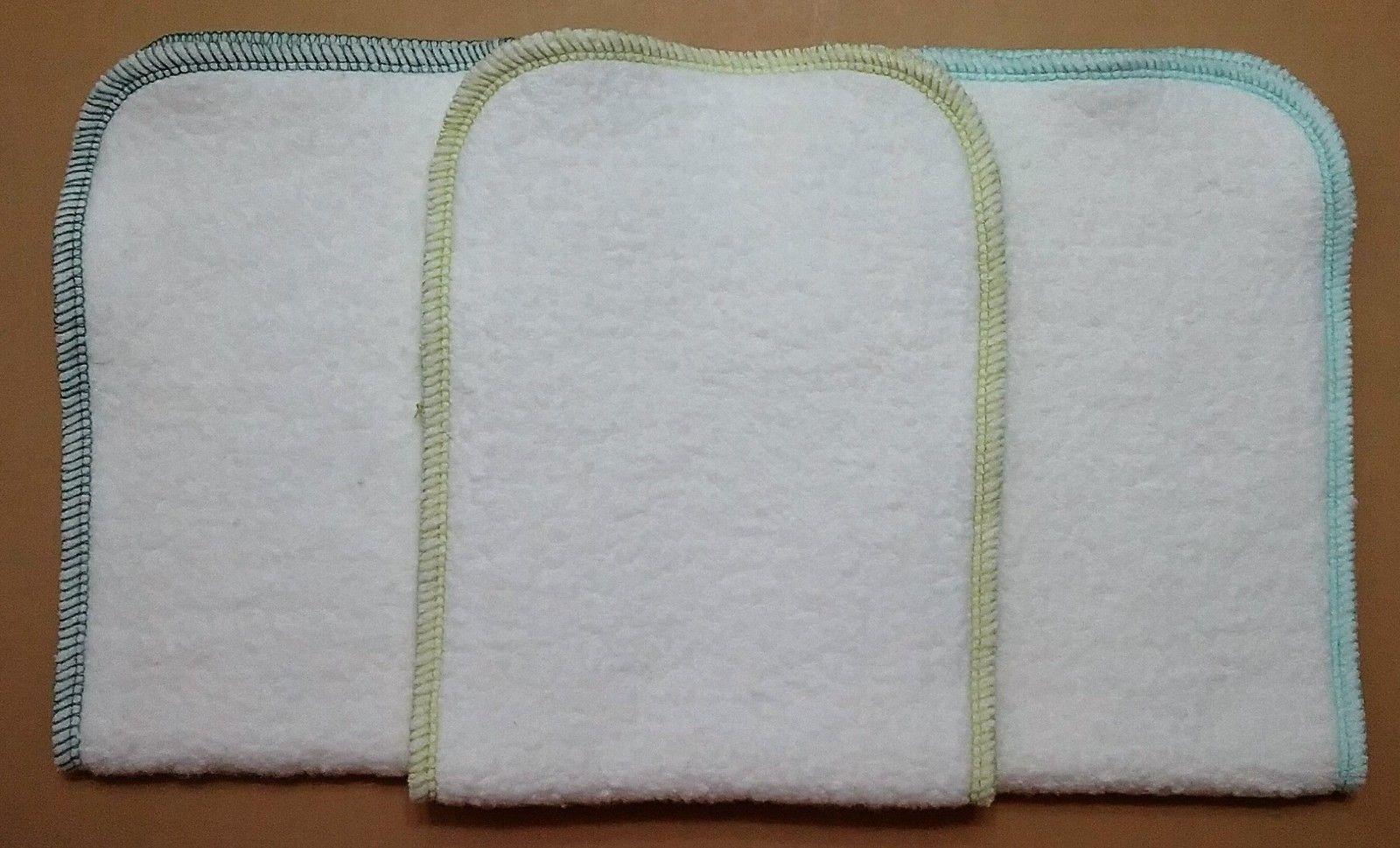 Hemp Organic Cotton Fleece diaper inserts 5 x 13 Neon Orange Orange /& Poppy Red