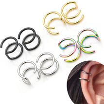 2PCs Unisex Party Punk Jewelry Cuff Earrings Ear Clip No Pierced - $8.80