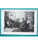 YOUNG MAIDEN in Love & Mother Visit Psychologist Doctor - VICTORIAN Era ... - $16.20