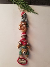 Vintage Kurt S Adler Christmas ornament Kandy's folk art Bear Collector - $13.98
