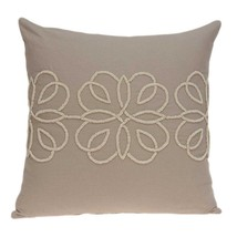"""20"""" x 7"""" x 20"""" Stunning Transitional Tan Cotton Pillow Cover With Poly I... - £61.77 GBP"""