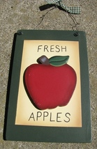 WD2021A - Fresh Apples Wood Sign - $3.95