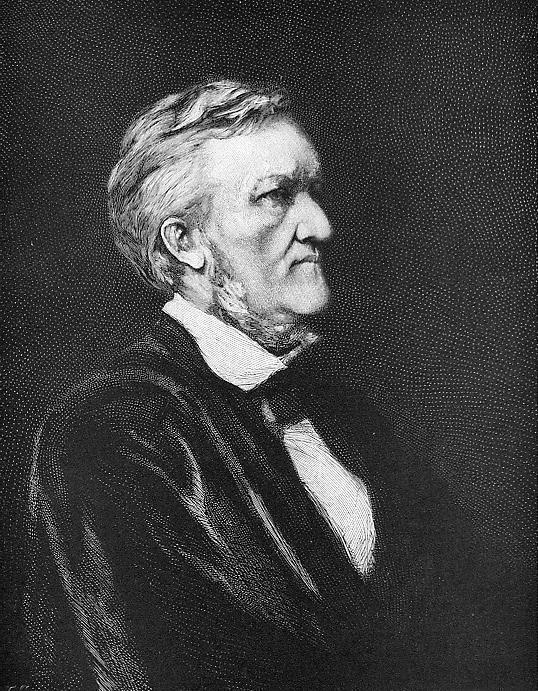 RICHARD WAGNER Music Composer - 1883 Portrait Antique Print