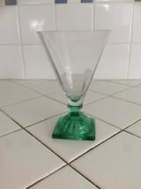 Depressionware Dark Green Jeannette Glass Dessert Cup, circa 1930 - $18.69