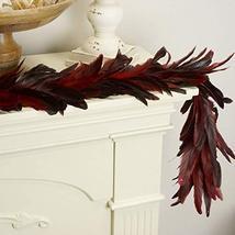ZUCKER Dyed Bronze SCHLAPPEN Feather Garland RED image 2