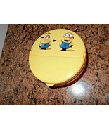 New Minions Despicable Me Snack Container with Lid  Hard Plastic - $3.61