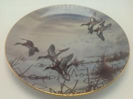 Danbury Mint In to Feed David Maass Ducks Taking Flight 1988 Ltd Ed Plate - $14.50