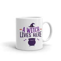 New Mug - A witch lives here halloween Mug - $10.99+